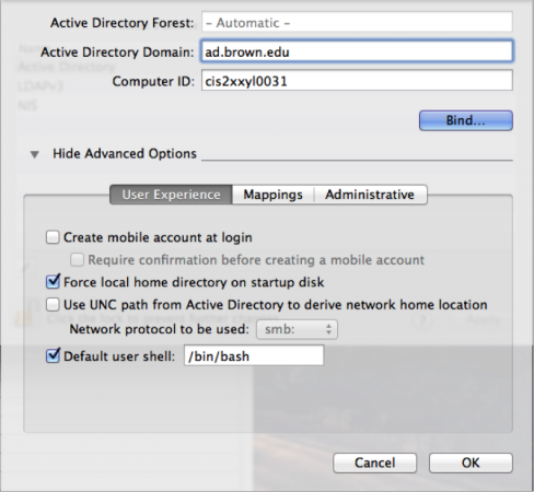 Bind a Mac to Active Directory - Knowledgebase / Technical Systems